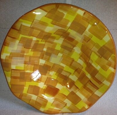 "Kaleidoscope Yellow By Gail Pittman USA Nwt 10.5"" Pasta Soup Rimmed Bowl"