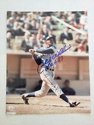 Billy Williams (Cubs, HOF '87) Signed 8x10 Action Photo w/ COA
