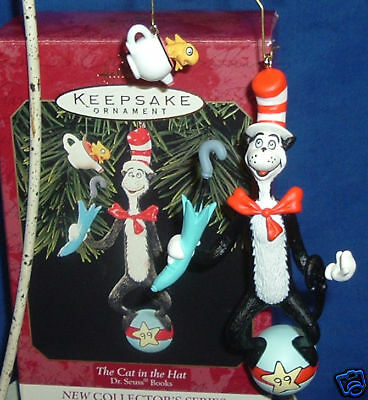 Hallmark Series Ornament Dr. Seuss Books #1 1999 The Cat in the Hat Fish in Cup