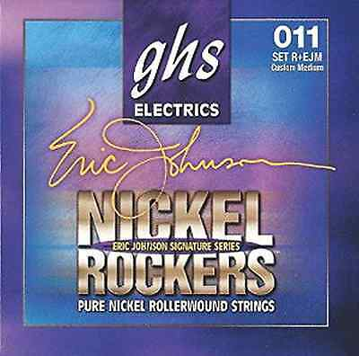 GHS Eric Johnson Signature Pure Nickel Electric Guitar Strings 11-52 Rollerwound