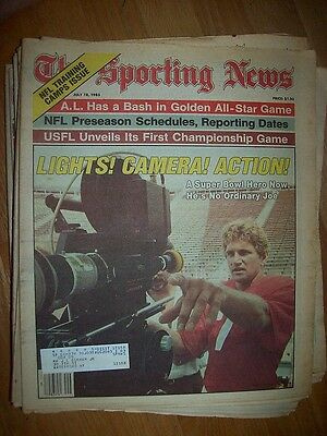 July 18, 1983 The Sporting News Joe Theismann Lights! Camera! Action!