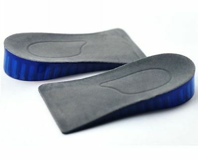 Silicone Higher Increase Height Insoles Taller Lifts Inserts Heel Shoes Pad New