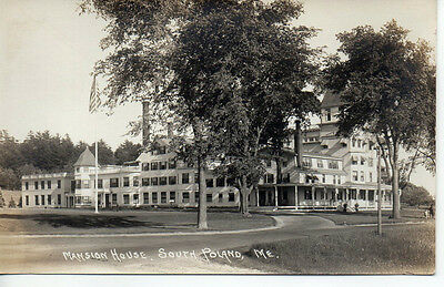 2346. Real Photo Postcard RPPC circa 1910 Mansion House South Poland Maine ME