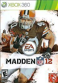Madden NFL 12 (Xbox 360, 2011) Complete Disc, Case & Manual.......Mint Condition