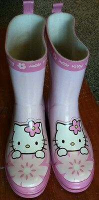 Hello Kitty Girls Rubber Boots, Size XL 2-3, Pink, Rubber