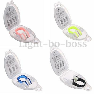 Soft Silicone Swimming Diving Waterproof Nose Clip Plug Earplugs Swim With Case