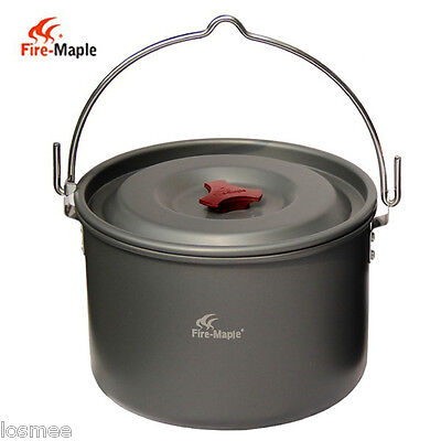 Outdoor 5L Hanging Pot for 4-5 People Cooking Camping Bonfire Party P1A3