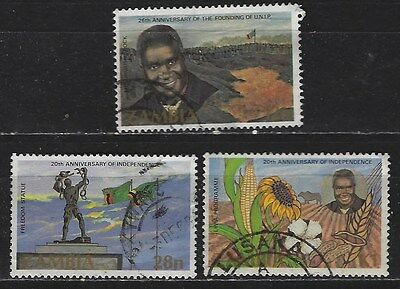 ZAMBIA 1984 INDEPENDENCE 20th ANNIV. SG#417-9 COMPLETE POSTAL USED SET 2854