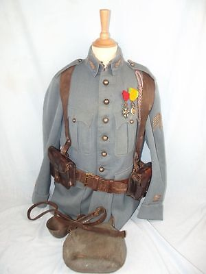 WW1 1915 Pattern French Artillery Captain's Tunic & Equipment