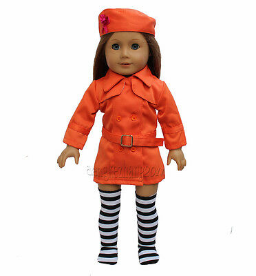 "New orange Fashion Suit fits 18"" American Girl Doll Clothes Free shipping!"