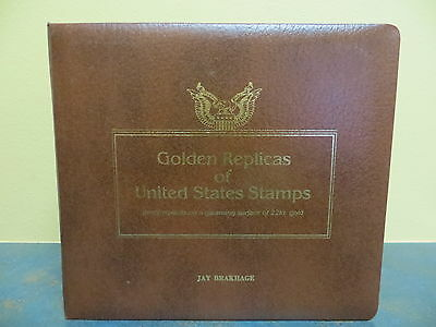 22kt Golden Stamp Replicas 41 First Day Issue 1981-1983 Leather Album