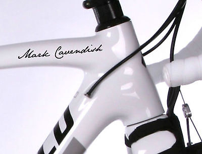 2x PERSONALISED FRAME NAME ROAD CYCLE CYCLING BIKE FRAME STICKERS DECALS