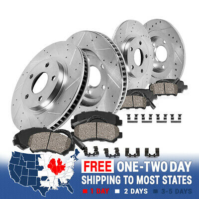 Front 332 mm and Rear 324 mm Brake Rotors & Ceramic Pads BMW X5 E53 3.0i 4.4i