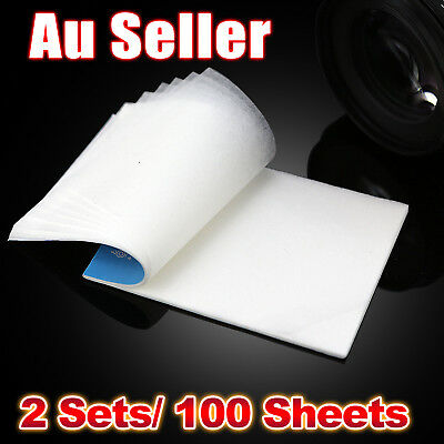 100 Sheets Camera Lens Cleaning Cleaner Paper Tissue Dust Wipe AU