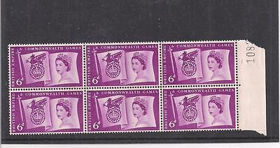 Great Britain:  Scott# 339, Block Of 6, Mnh, Og