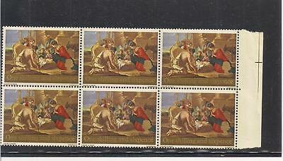 Great Britain:  Scott# 524, Block Of 6, Mnh, Og