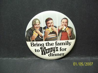 Vintage 1970s-80s WENDY'S Employee Advertising Pin Jonathan Winters Very Unique