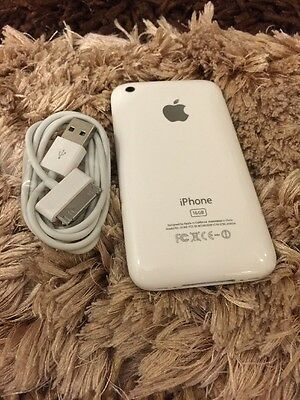 iPhone 3GS - 16GB -White (FACTORY UNLOCKED) Excellent Condition 6.1.6