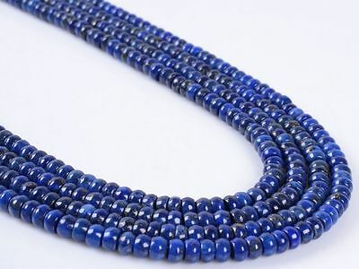 399 4x2mm Lapis rondelle loose gemstone beads 16""