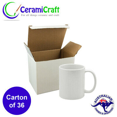 36 Dye Sublimation White Coffee Cup 11oz GRADE AAA Mug Gift Box Dishwasher Proof