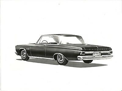 1965 Plymouth Satellite Period Press Photograph.