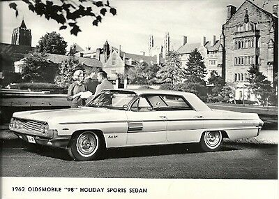 "1962 Oldsmobile ""98"" Holiday Sports Sedan Period Press Photograph."