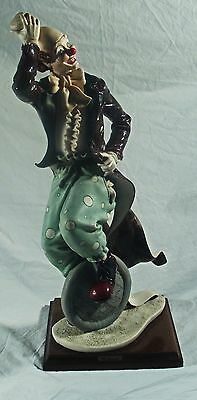 Capodimonte Guiseppe Armani Clown Figurine Unicycle Signed REDUCED CLEARANCE