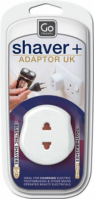 Brand New - Go Travel - Shaver Adaptor - 2 Pin Shavers To UK Electrical System