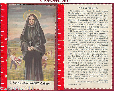 3305 Santino Holy Card S. Santa Francesca Saverio Cabrini