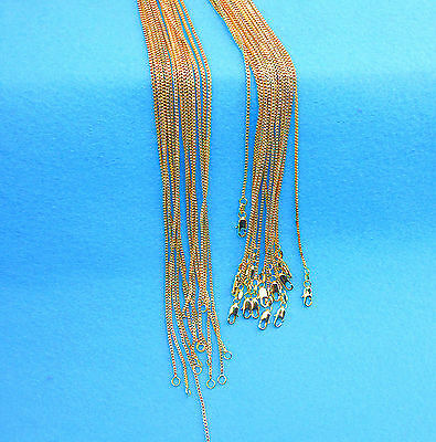 1PCS Wholesale Fashion Jewelry 18K Gold Filled Necklaces Box Chains For Pendants