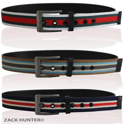 """Childrens 1.5"""" Canvas Belts With Real Leather Backing Kids Belt Boys Belts Fb001"""
