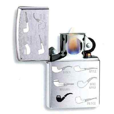 Z200PLENG - EXCLUSIVE Zippo Brushed Chrome Pipe Engraved Pipe Lighter