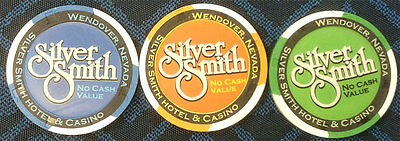 Silver Smith Paulson Ncv Casino Poker Chip Collector Set (3) Free Shipping