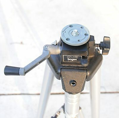 MANFROTTO 117X  (3068) Prol Geared Tripod - Stainless Steel Legs - Good shape