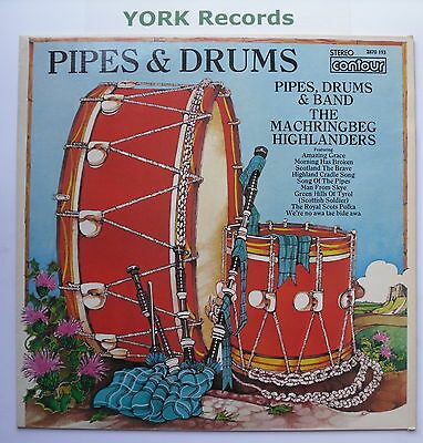 MACHRINGBEG HIGHLANDERS - Pipes Drums & Band - Ex Con LP Record Contour 2870 193