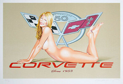 Mel Ramos - Corvetta - 2003, Pop Art Grafik Lithografie, Luxus