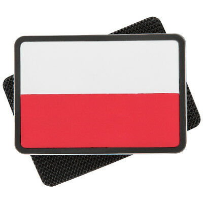 2X Helikon Polish Subdued Rubber Flag Morale Patch True Red White Colour