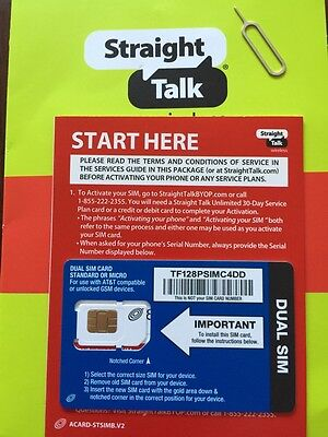 Straight Talk AT&T Compatible Standard / Micro Dual Size SIM Card