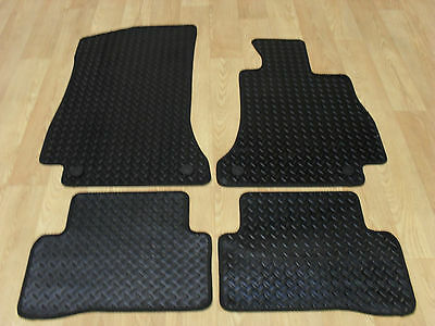 Mercedes C Class W205 (2014-on) Fully Tailored RUBBER Car Mats Black.