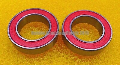 Rubber Sealed Ball Bearing Bearings 17287RS RED 17287-2RS 17x28x7 mm 2 Pcs