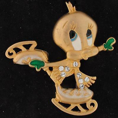 PIN Tweety Bird WARNER BROTHERS SWAROVSKI ELEMENTS  Gold GEM 4636