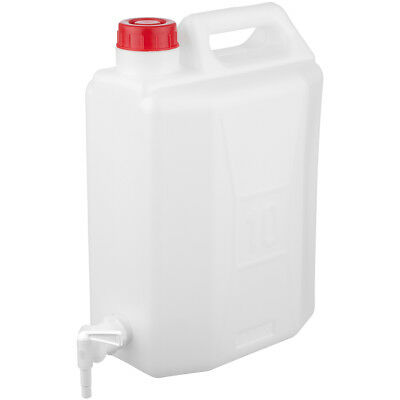 Highlander 10L Plastic Jerry Can Camp Water Carrier Tap Travel Hydration Storage