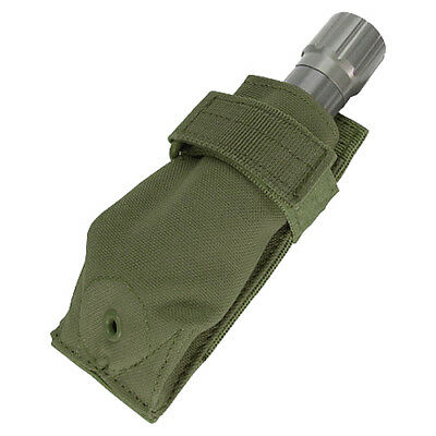 Condor Tactical Flashlight Molle Pouch Torch Holder Adjustable Case Olive Drab