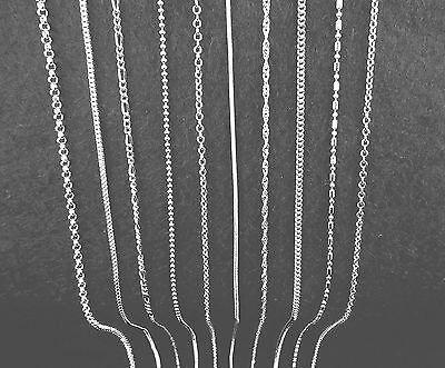 Mix lot 10PCS 925 Sterling Silver Plated Necklace Chains Lobster Clasps Pendants