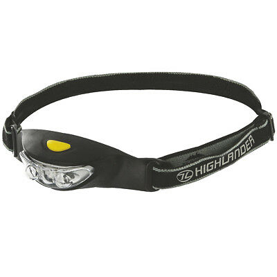 Highlander Ray 3 Led Tactical Head Light Camping Cycling Safety Headtorch Black