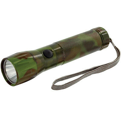 Highlander Tactical 1W White Led Aluminium Torch Camping Hunting Work Light Camo
