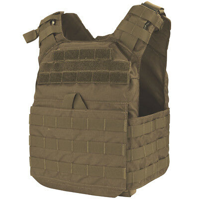 Condor Cyclone Soft & Hard Armour Plate Carrier Tactical Army Patrol Vest Brown