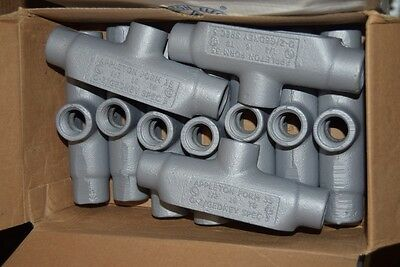 Lot of 2 Appleton Electric Form 35 TB50-M 1/2 Conduit Body Iron Unilet Type TB