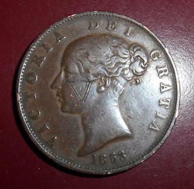1853 QUEEN VICTORIA - Farthing/Halfpenny (1838-1860) ***SPECIAL*** (QV20155311)