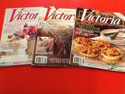 VICTORIA  BLISS ~ Special Issues ~ Gardening, French Style, & Antiques! 2013 Lot